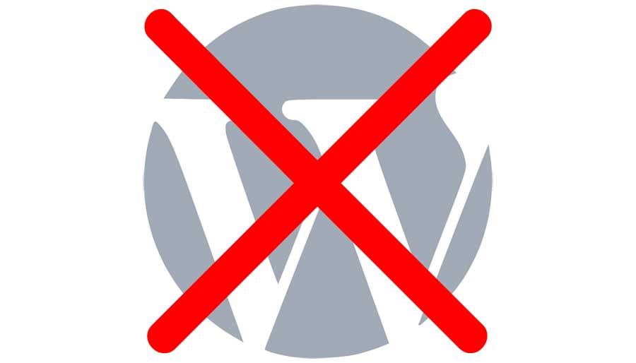Wordpress, no grazie!